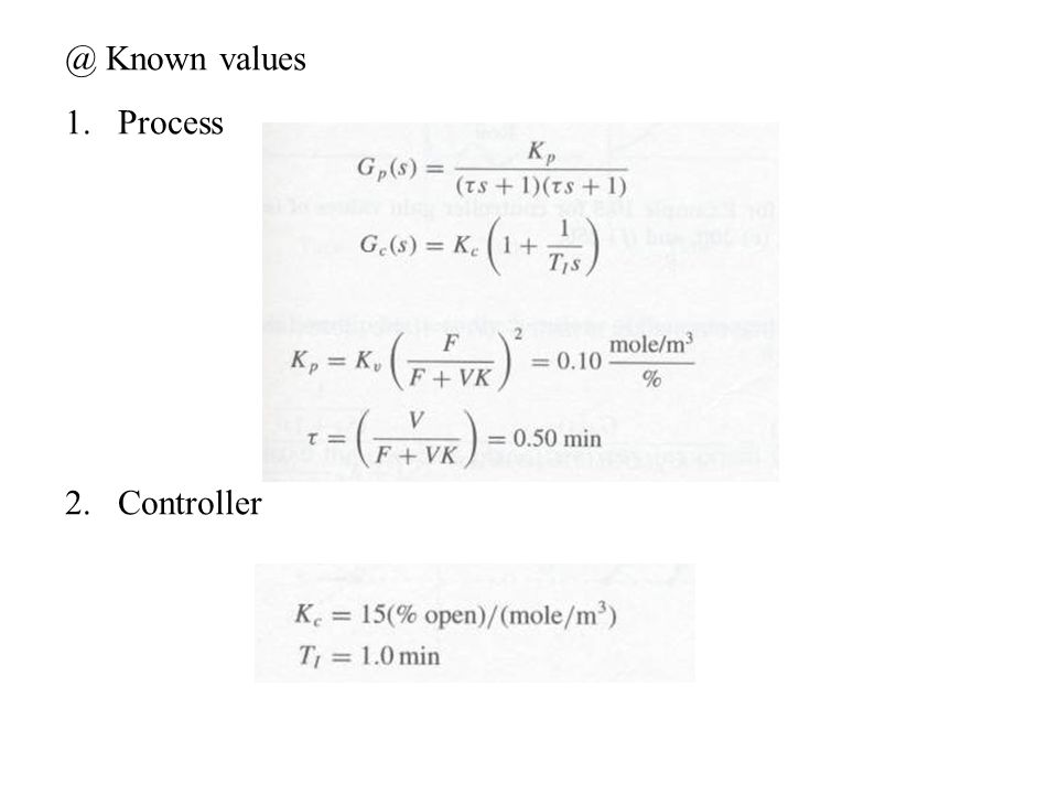 @ Known values 1.Process 2.Controller
