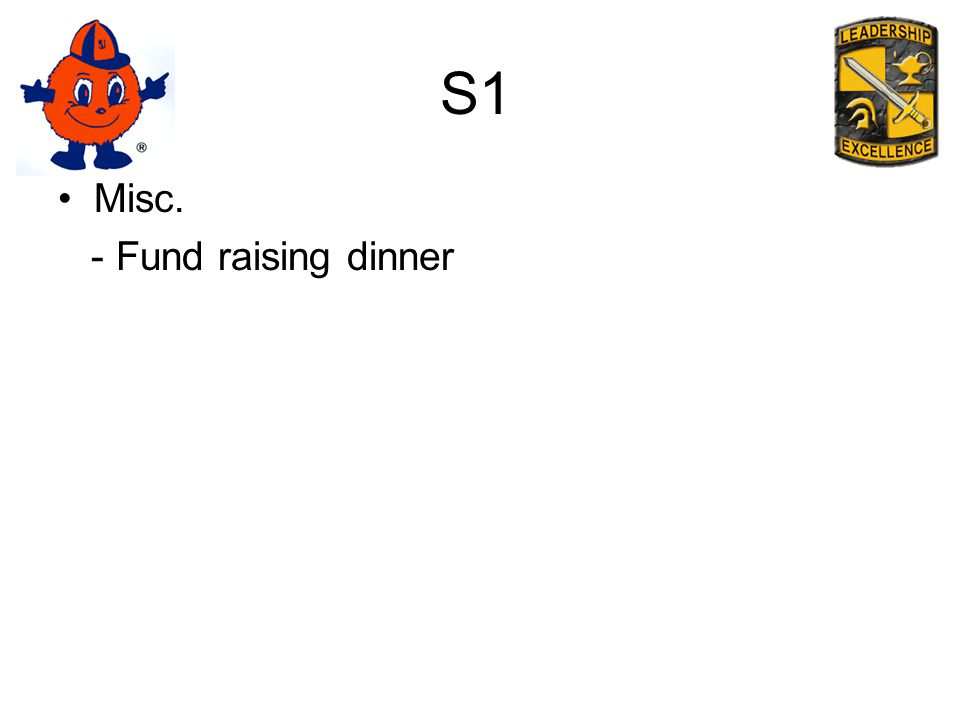 S1 Misc. - Fund raising dinner