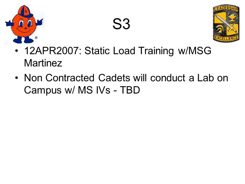 S3 14-17APR2007: FTX at Ft.