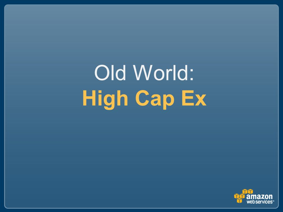 Old World: High Cap Ex
