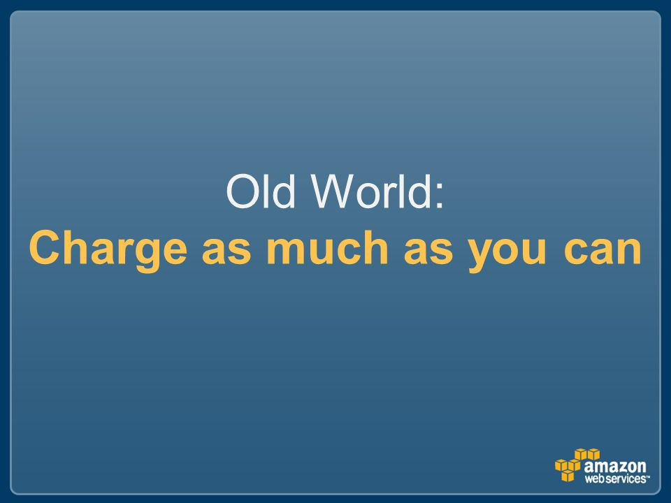 Old World: Charge as much as you can