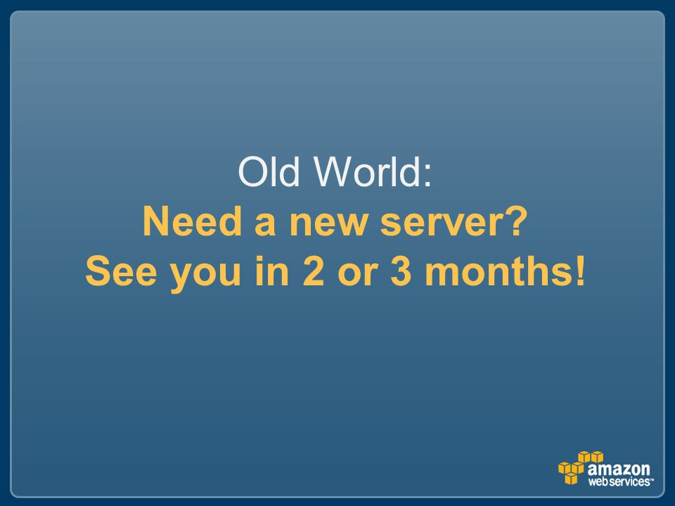 Old World: Need a new server See you in 2 or 3 months!