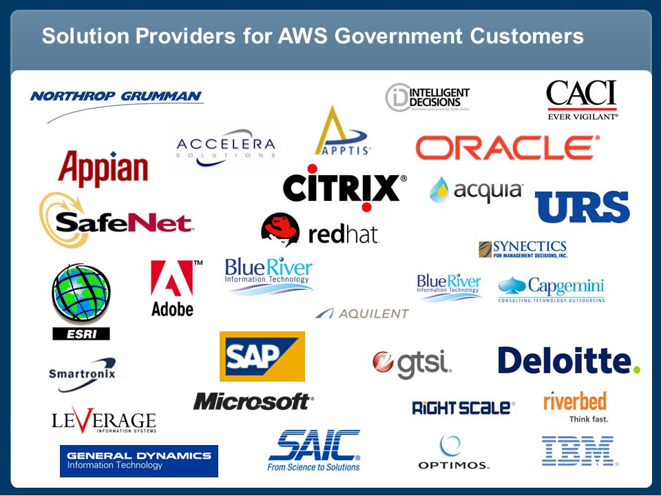 Solution Providers for AWS Government Customers