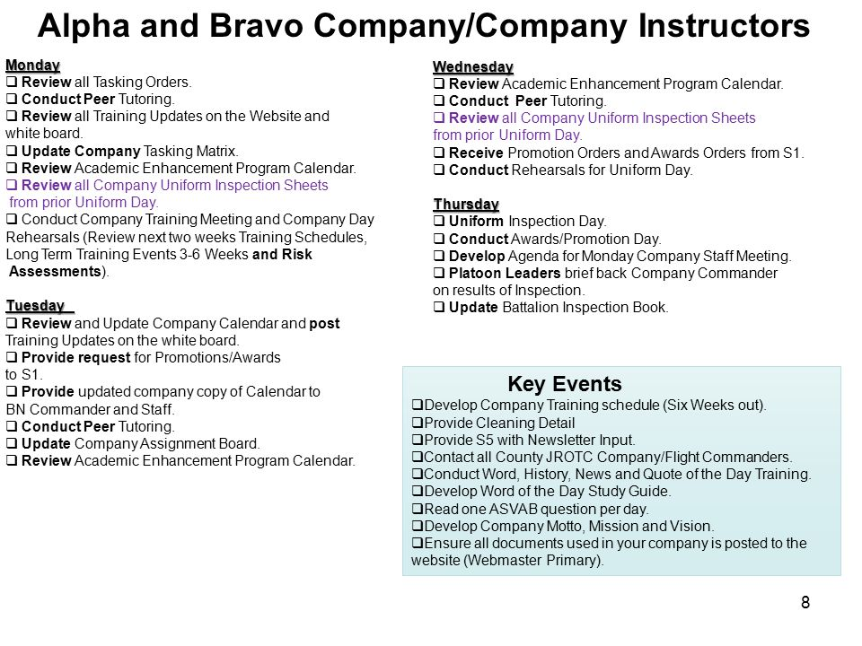 Executive Officer to the Army Instructors(XO AI) Key Events  Update Calendar thru April 2014.