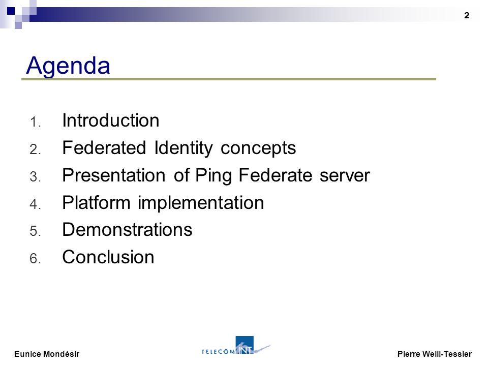 Eunice Mondésir Pierre Weill-Tessier 2 Agenda 1. Introduction 2.