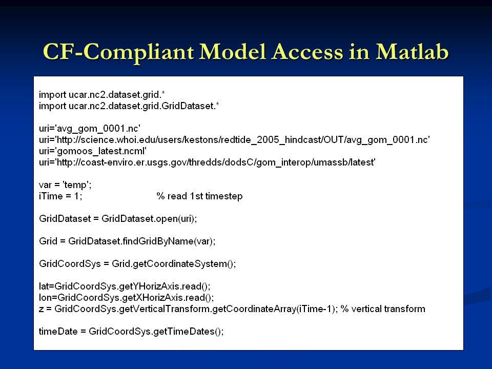 CF-Compliant Model Access in Matlab