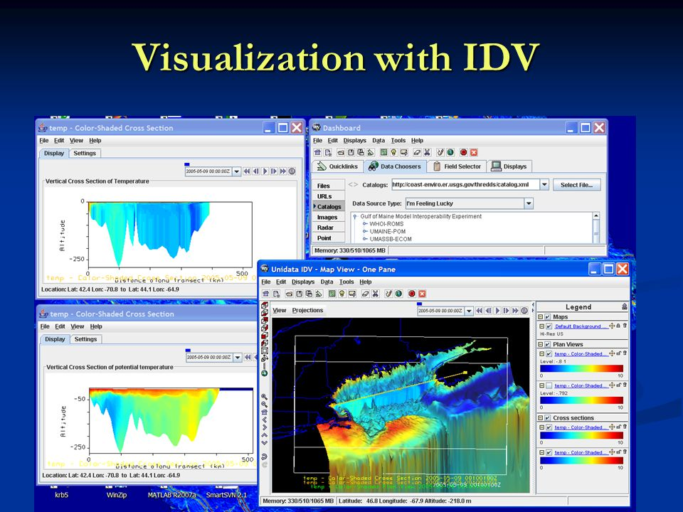 Visualization with IDV