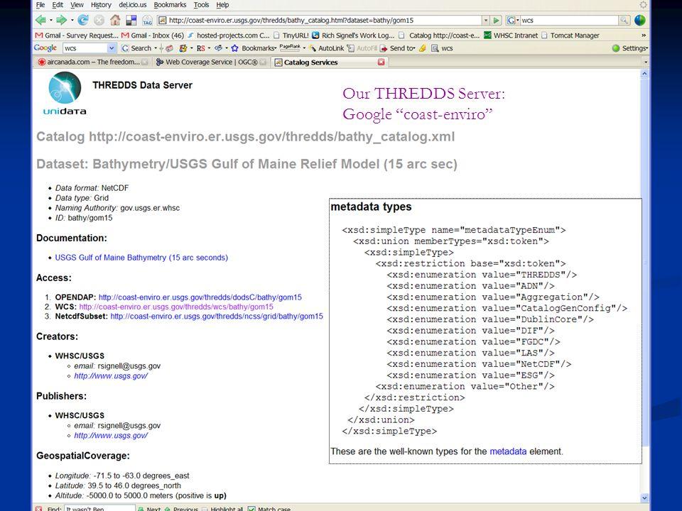 """Our THREDDS Server: Google """"coast-enviro"""""""