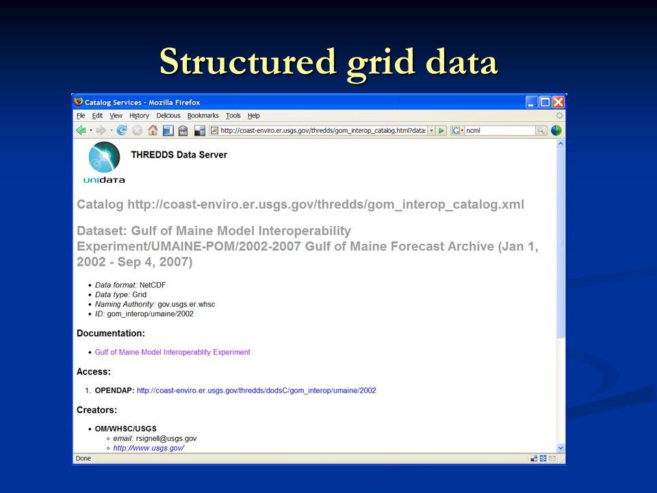 Structured grid data