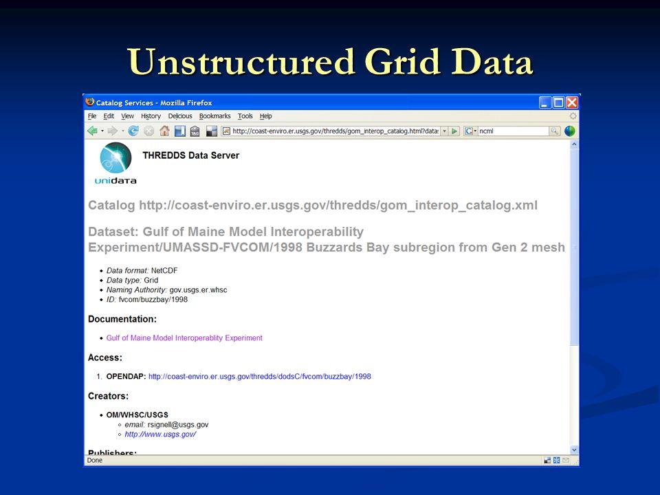 Unstructured Grid Data