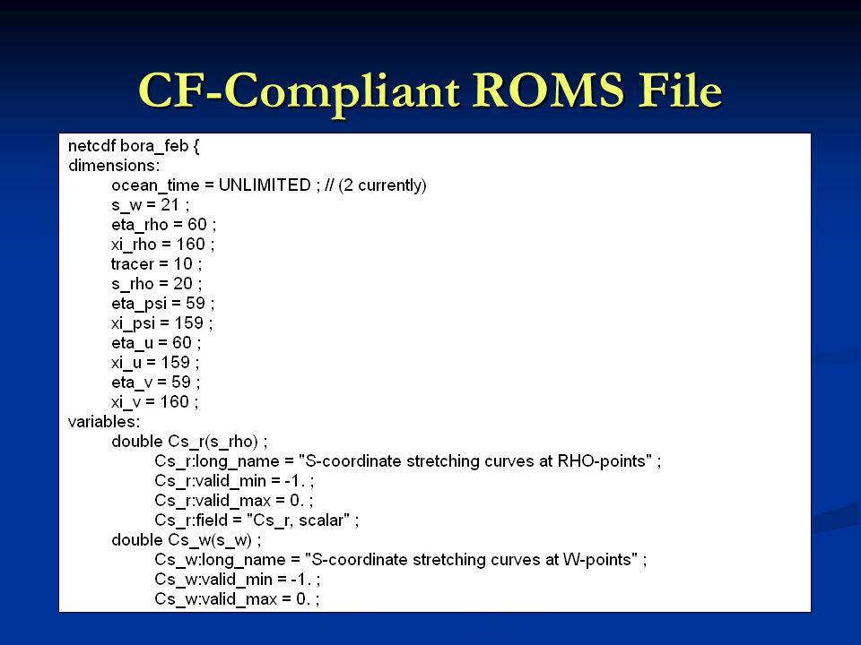 CF-Compliant ROMS File