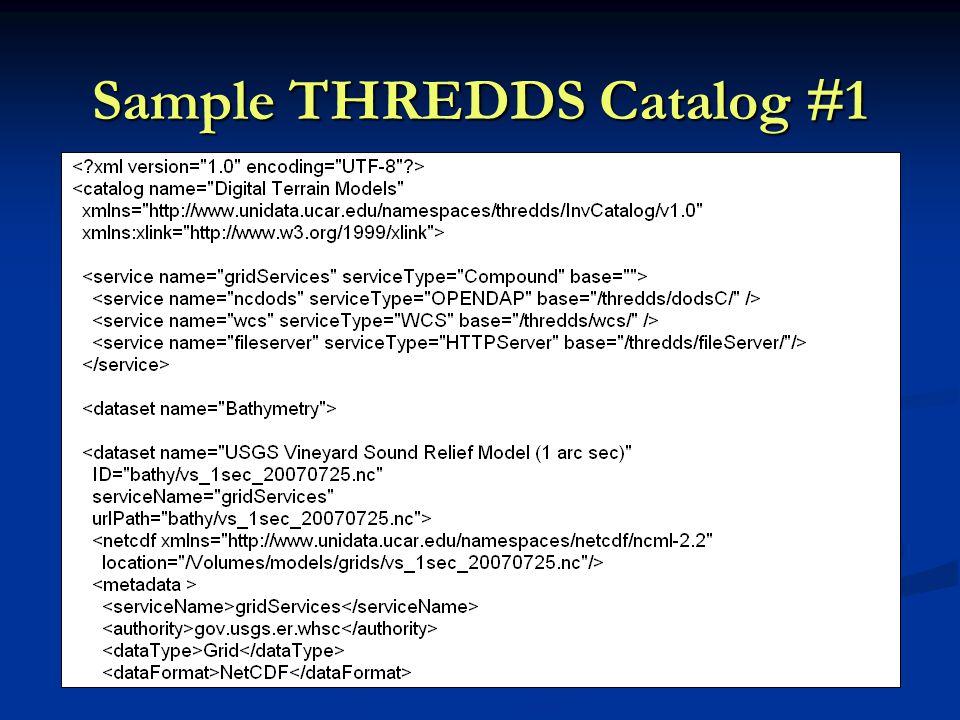 Sample THREDDS Catalog #1