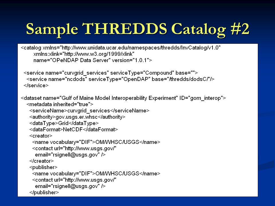 Sample THREDDS Catalog #2