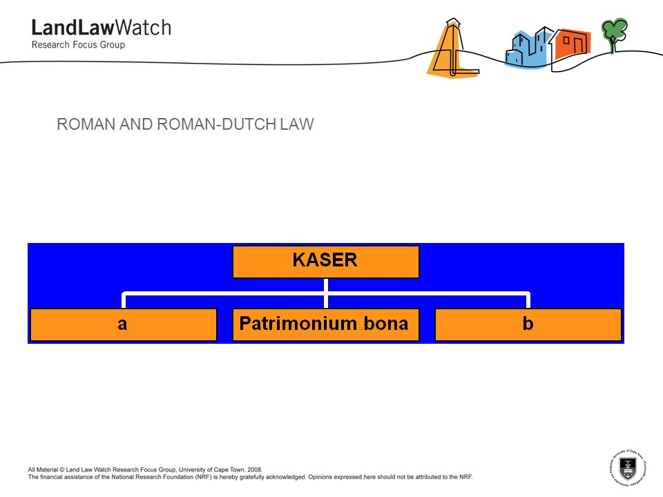ROMAN AND ROMAN-DUTCH LAW