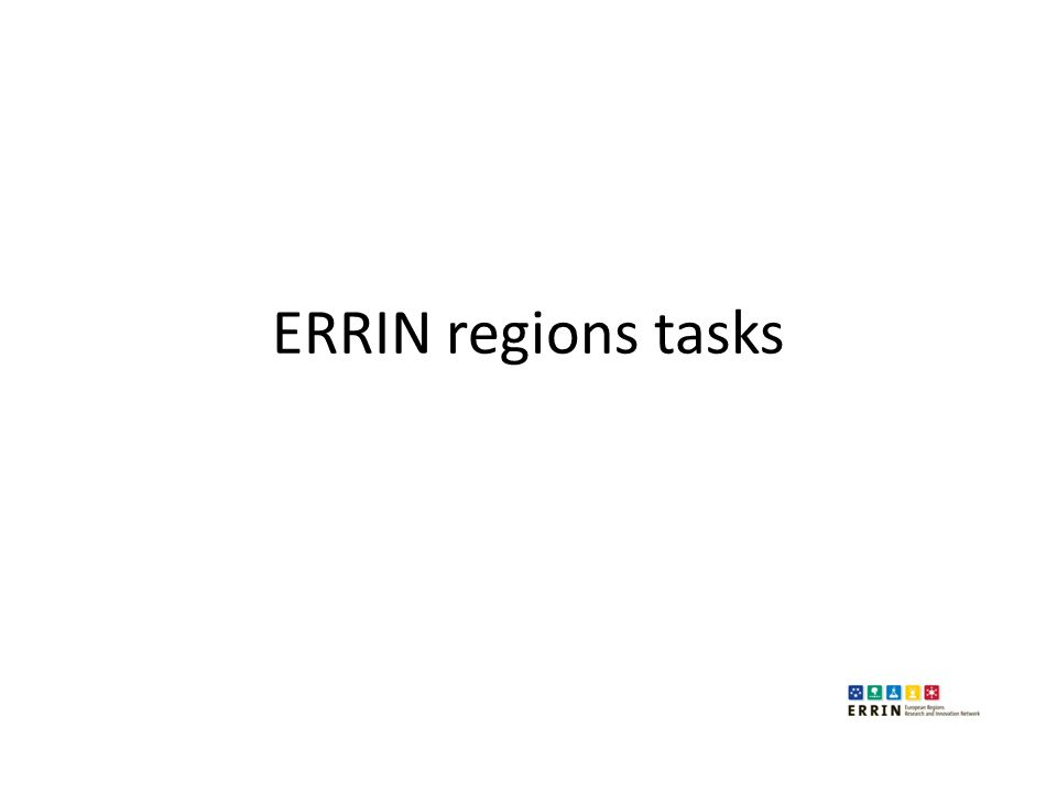 ERRIN regions tasks
