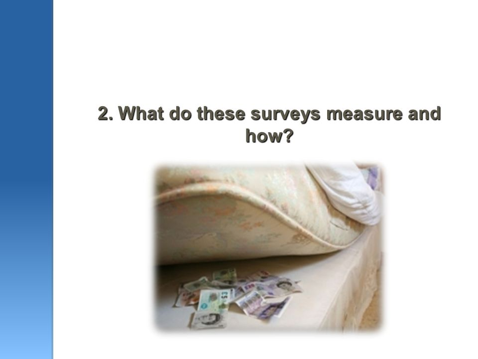2. What do these surveys measure and how?