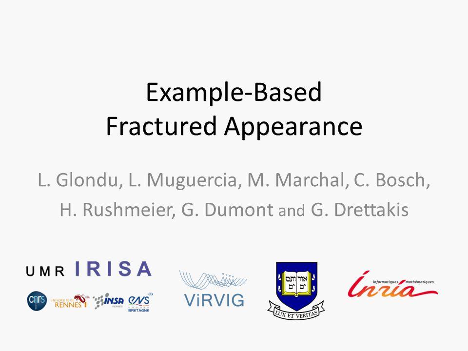 Example-Based Fractured Appearance L. Glondu, L. Muguercia, M.