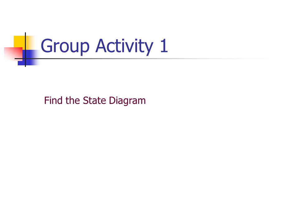 Group Activity 1 Find the State Diagram