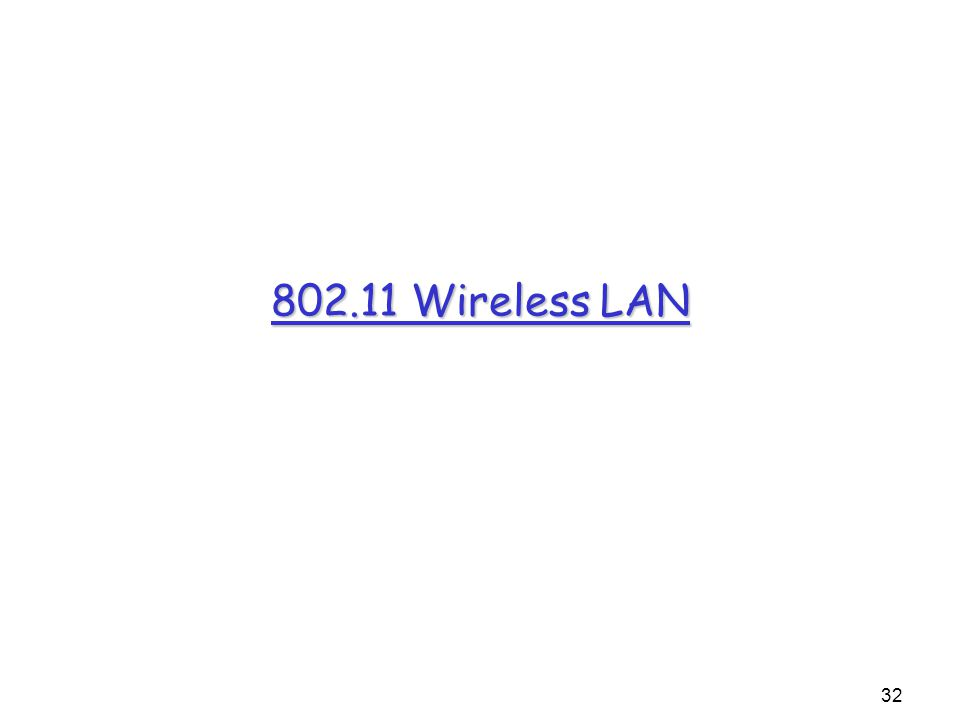 32 802.11 Wireless LAN