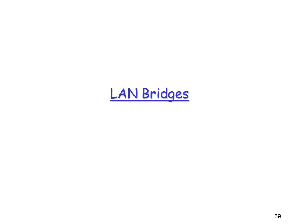 39 LAN Bridges