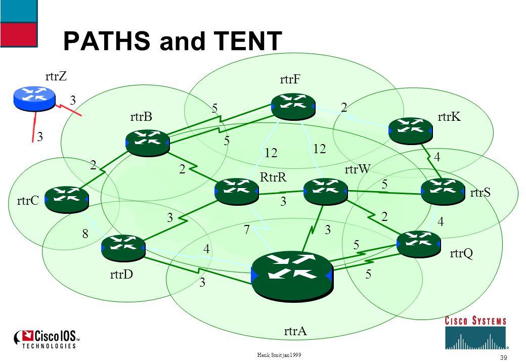39 Henk Smit jan1999 PATHS and TENT rtrW RtrR rtrD rtrC rtrA rtrB rtrQ rtrS rtrK rtrF rtrZ 4 5 4 5 12 2 2 5 5 73 5 3 4 3 2 8 2 3 3 3