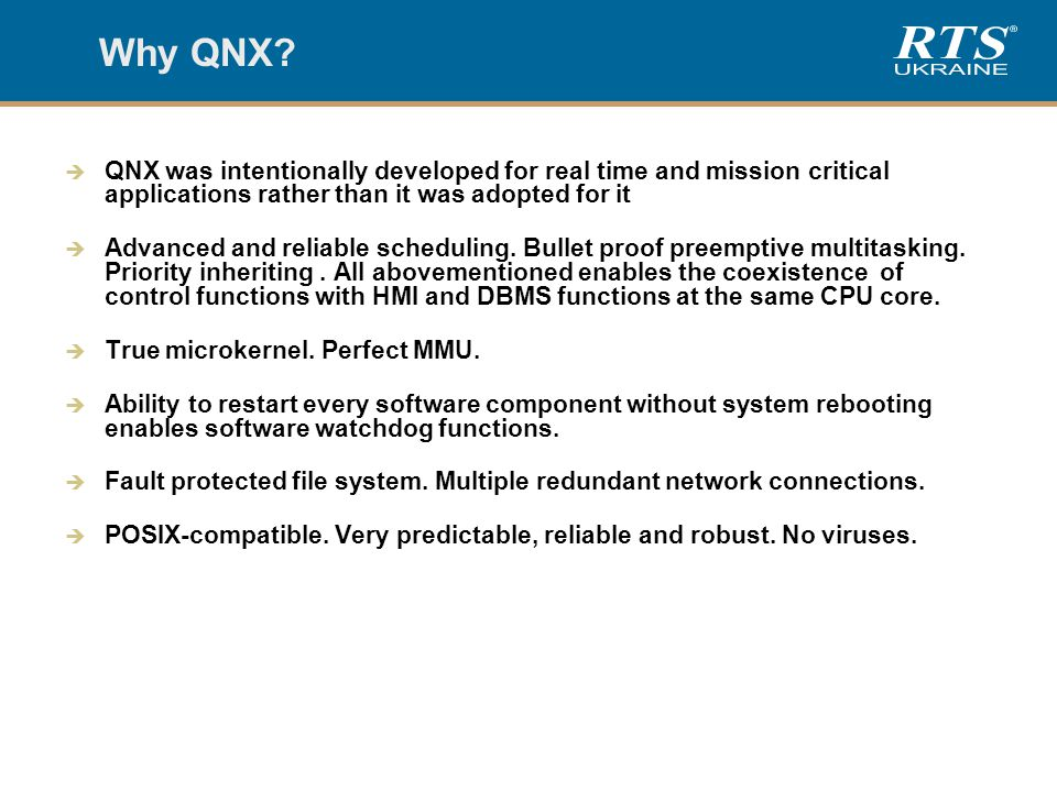 Why QNX.