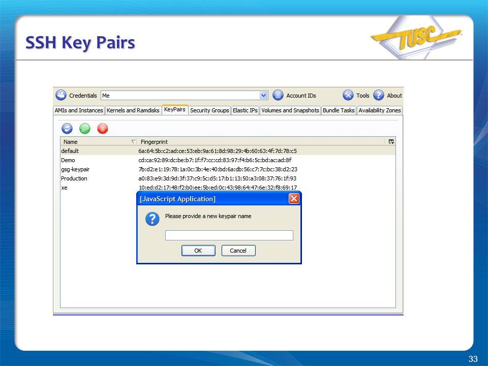 33 SSH Key Pairs