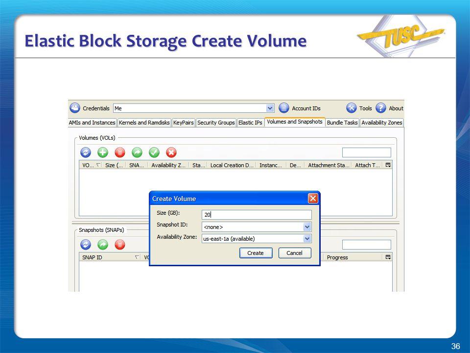 36 Elastic Block Storage Create Volume