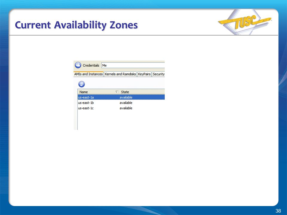 38 Current Availability Zones