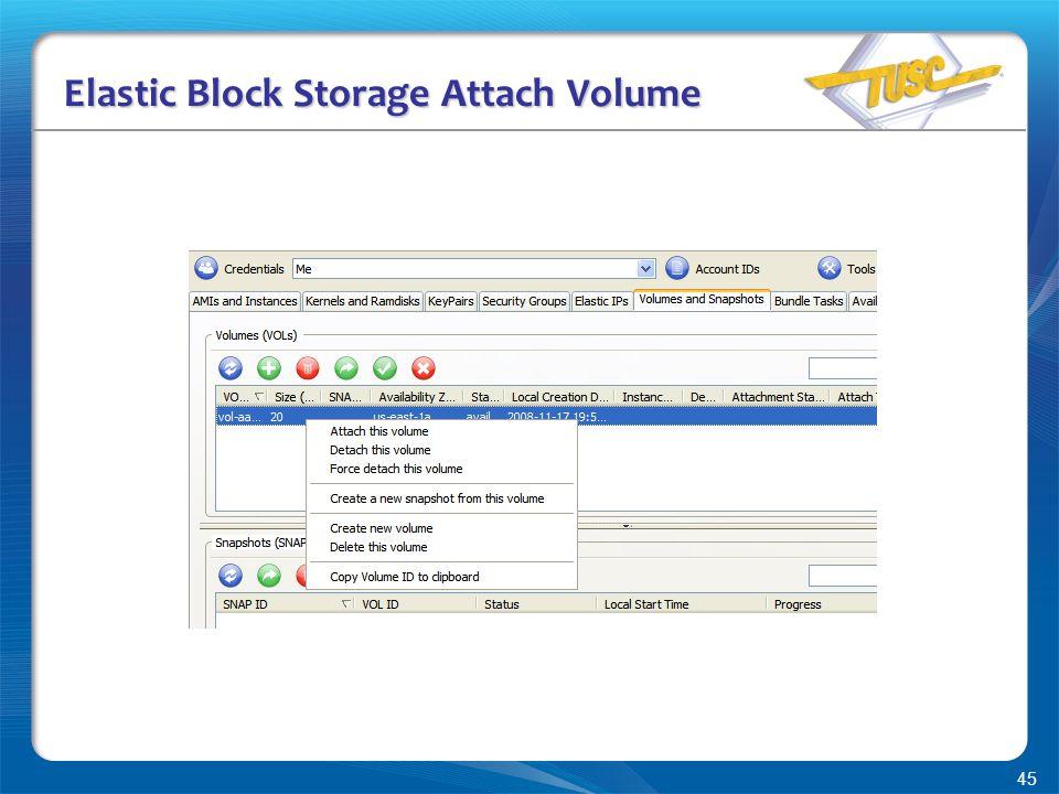 45 Elastic Block Storage Attach Volume