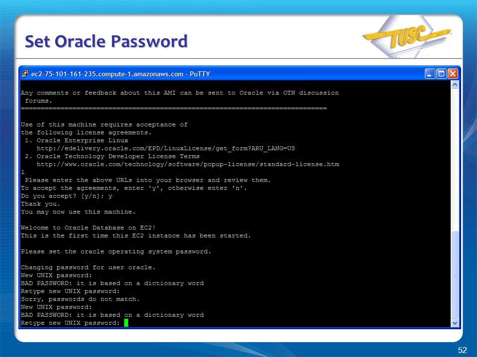 52 Set Oracle Password