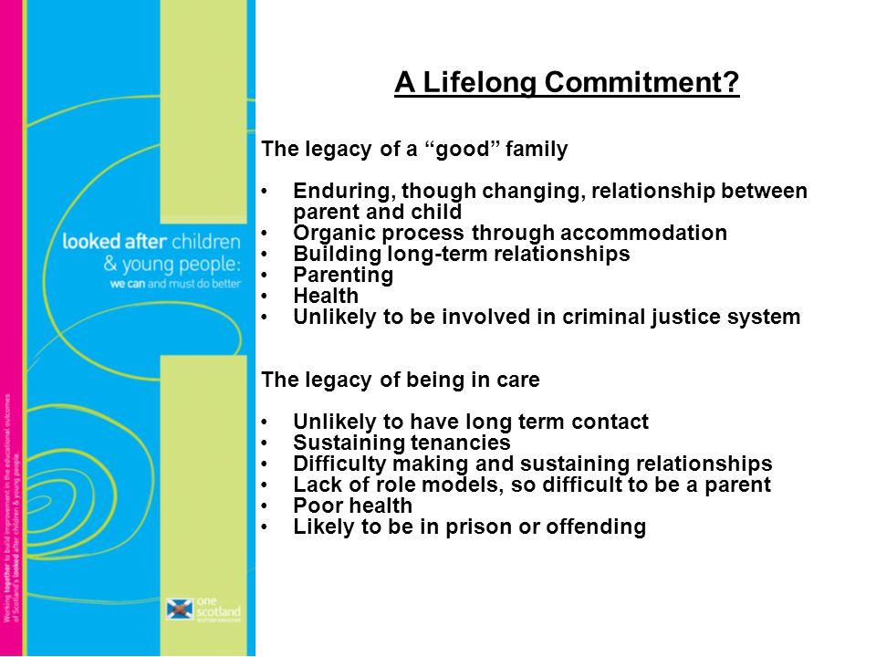 A Lifelong Commitment.