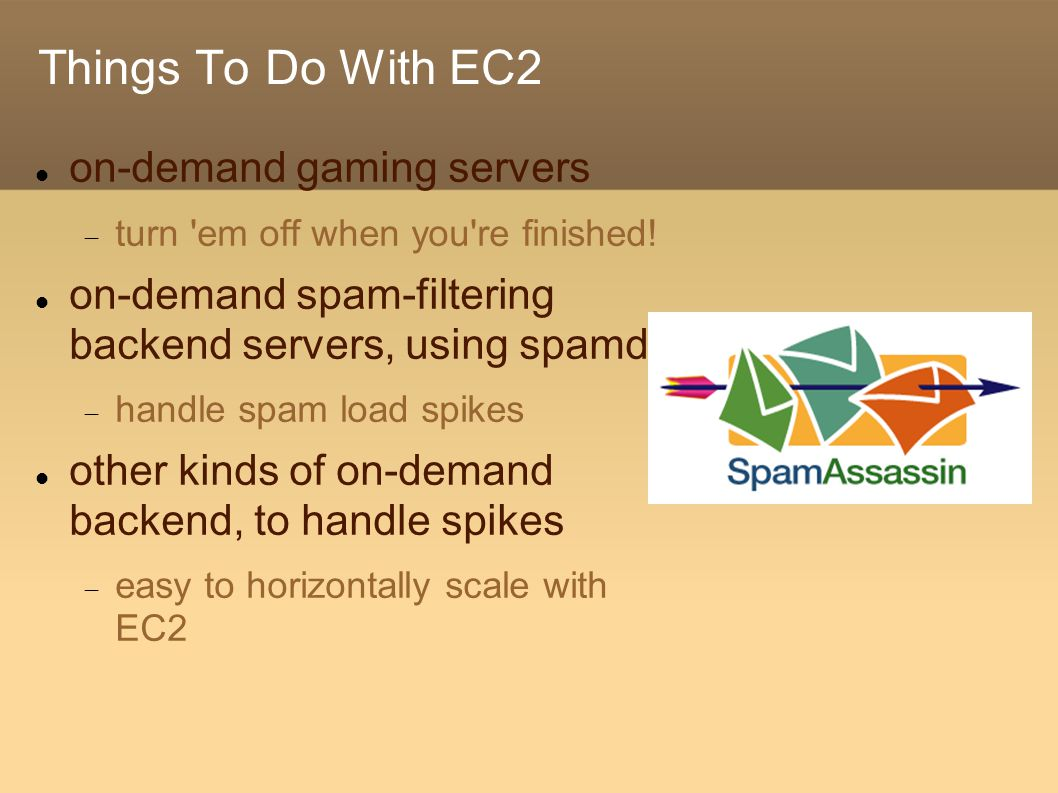 Things To Do With EC2 on-demand gaming servers  turn em off when you re finished.