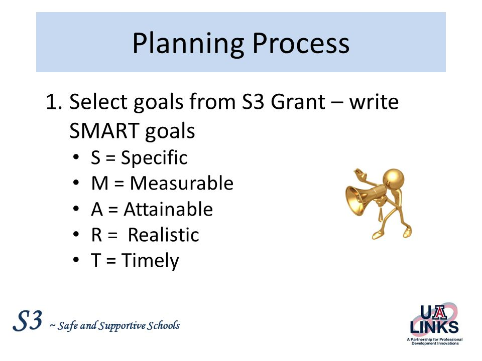 S3 ~ Safe and Supportive Schools Planning Process 2.Brainstorm with LCT What is working.