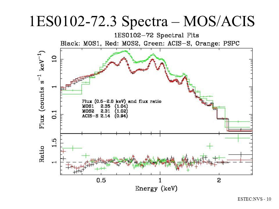1ES0102-72.3 Spectra – MOS/ACIS ESTEC:NVS - 10