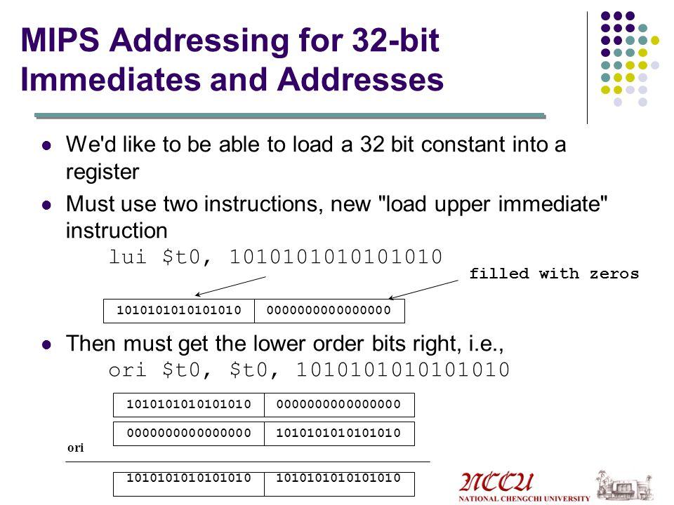 String Copy Procedure (MIPS) strcpy: addi$sp,$sp,-4#adjust stack for 1 more item sw$s0,0($sp)#save $s0 add$s0,$zero,$zero #i=0+0 L1: add$t1,$s0,$a1# address of y[i] in $t1 lb$t2,0($t1)#$t2=y[i] add$t3,$s0,$a0 #address of x[i] in $t3 sb$t2,0($t3) #x[i]=y[i] beq$t2,$zero,L2 # if y[i]==0 goto L2 addi$s0,$s0,1#i=i+1 jL1# goto L1 L2:lw$s0,0($sp)#y[i]==0; end of string, restore #old $s0 addi$sp,$sp,4#pop 1 word off stack jr$ra#return