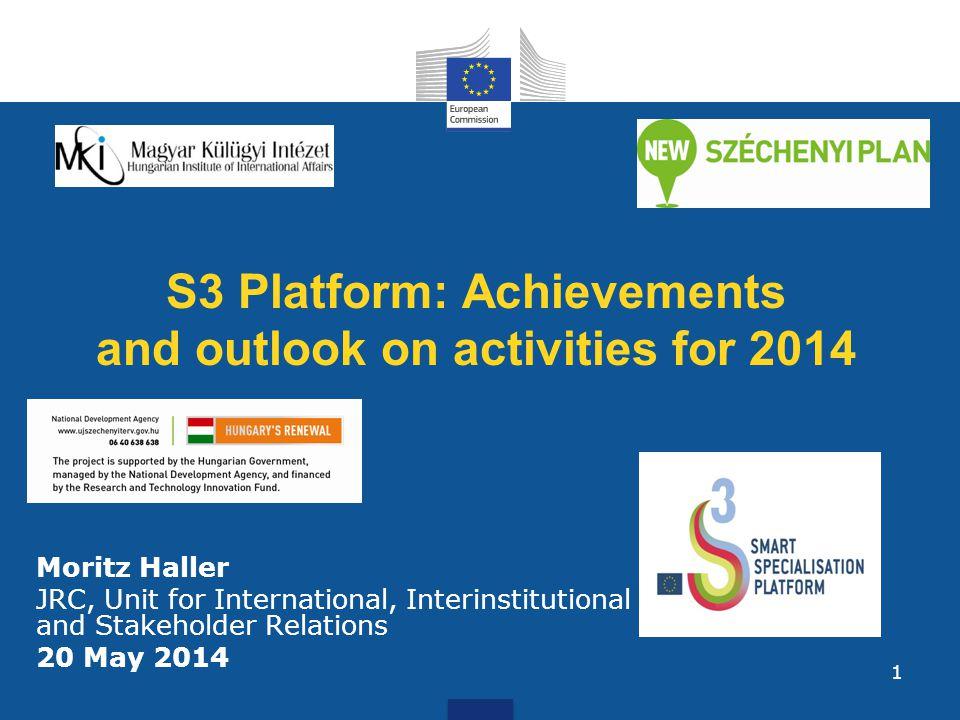 Update on S3 Platform Members (11 April 2014): 151 EU regions + 14 EU countries + 2 non-EU regions 2