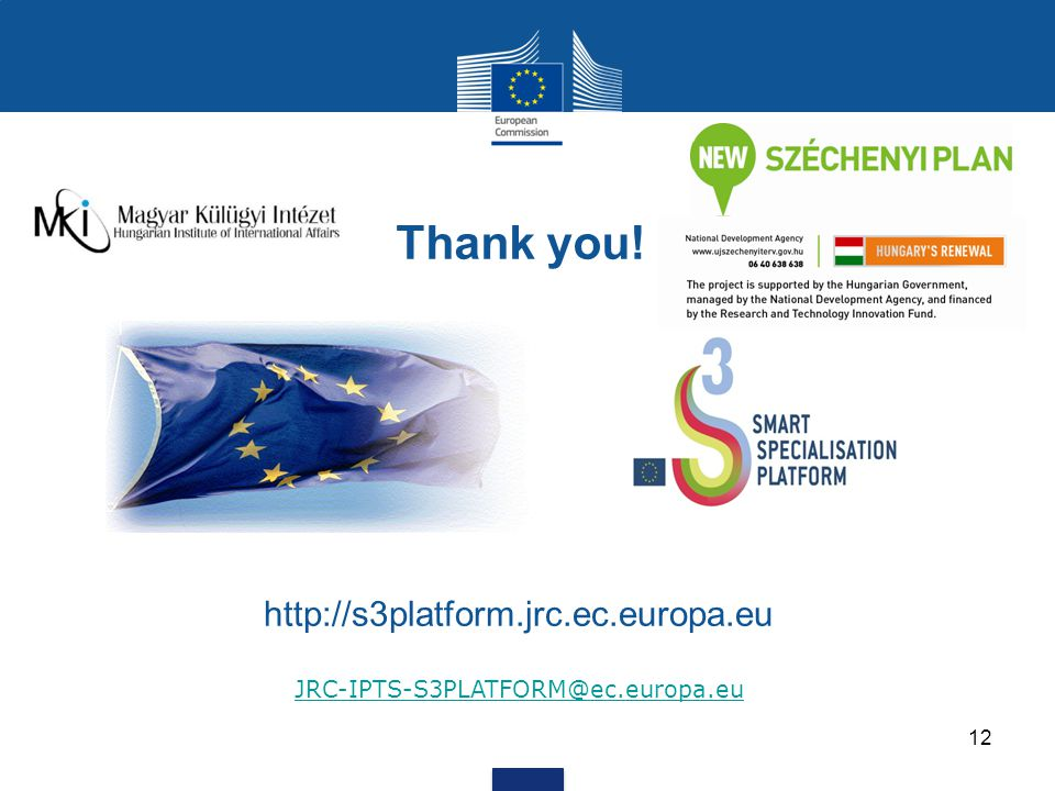 12 Thank you! http://s3platform.jrc.ec.europa.eu JRC-IPTS-S3PLATFORM@ec.europa.eu