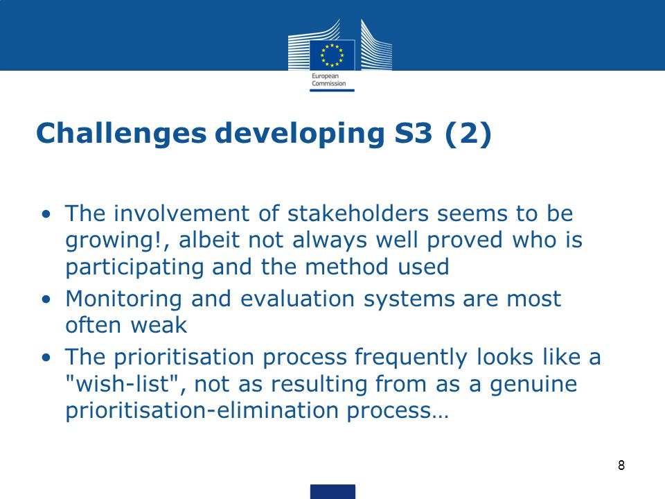 EP Pilot Project Stairway to excellence in New MS (S2E) – Start May 2014 Rationale Supporting synergies in the use of ESIF & Horizon 2020 in new Member States may deliver additional gains in terms of:  innovation results  close the innovation gap in Europe  promote economic growth The overall political rationale of identifying synergies between ESIF, H2020 and other R+I programmes is to maximize impact and efficiency of public funding.