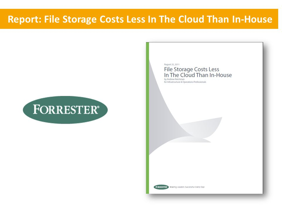 Report: File Storage Costs Less In The Cloud Than In-House