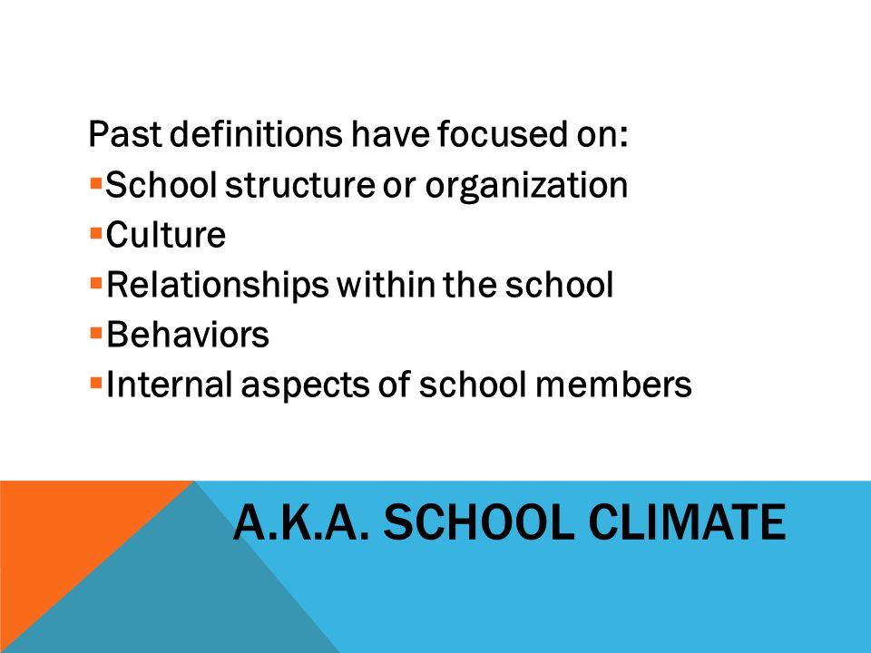 FEDERAL MODEL FOR MEASURING SCHOOL CLIMATE (2009)