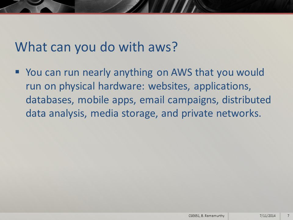 What can you do with aws.