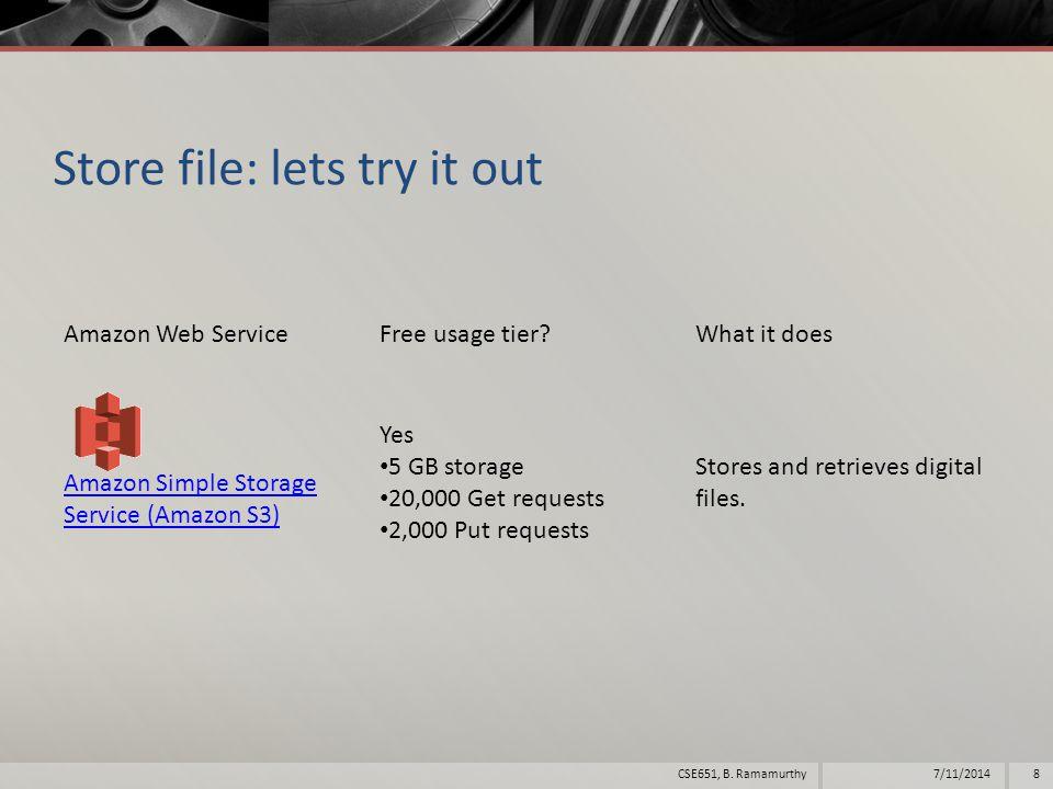 Simple Storage Service (S3)  Amazon Simple Storage Service (Amazon S3) is storage for the internet.