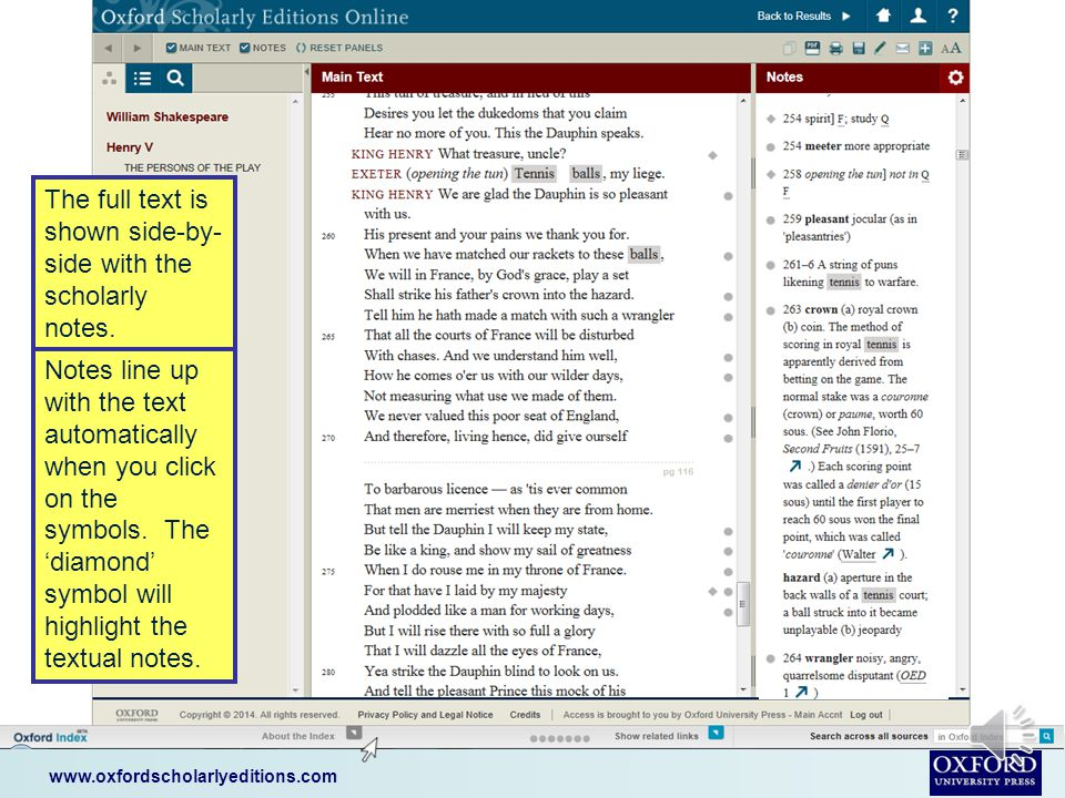 www.oxfordscholarlyeditions.com You can also expand your search to other online resources from Oxford University Press.