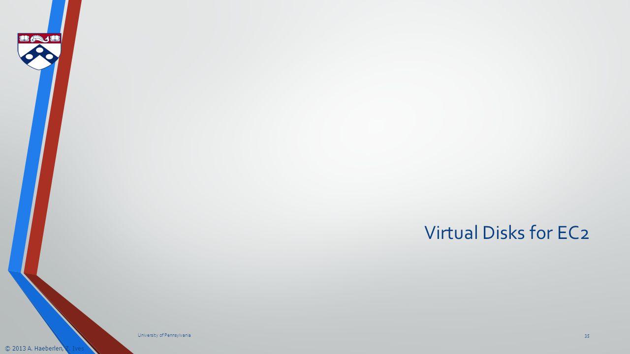 © 2013 A. Haeberlen, Z. Ives Virtual Disks for EC2 University of Pennsylvania35