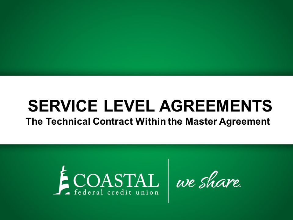 SLA Checklist Does the agreement include the following service factors.
