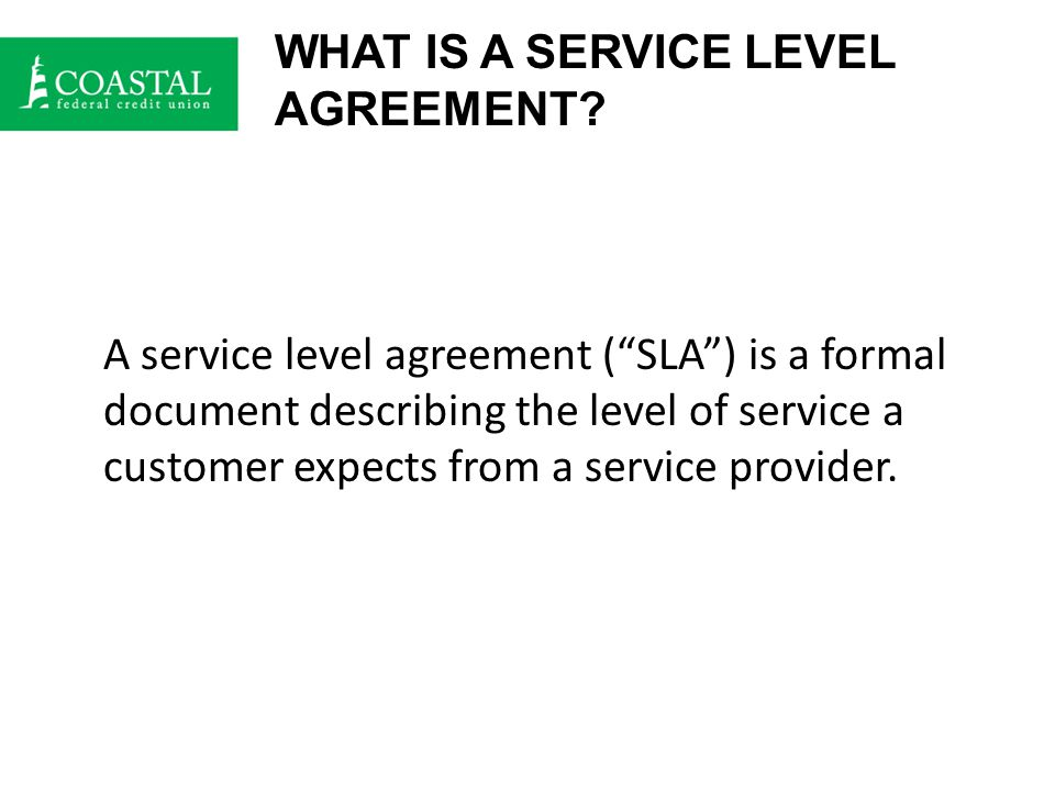 SLA Checklist Does the agreement state what and how performance monitoring will occur.
