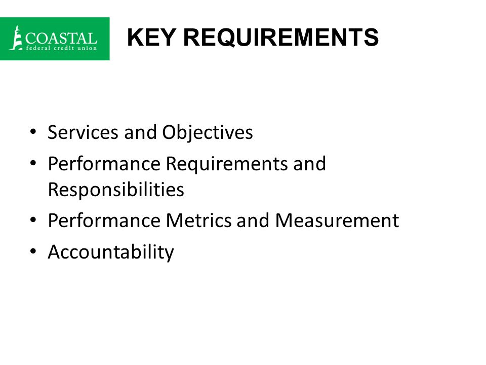 SERVICES AND OBJECTIVES Services: Clear statements setting forth the specific service(s) vendor agrees to provide.