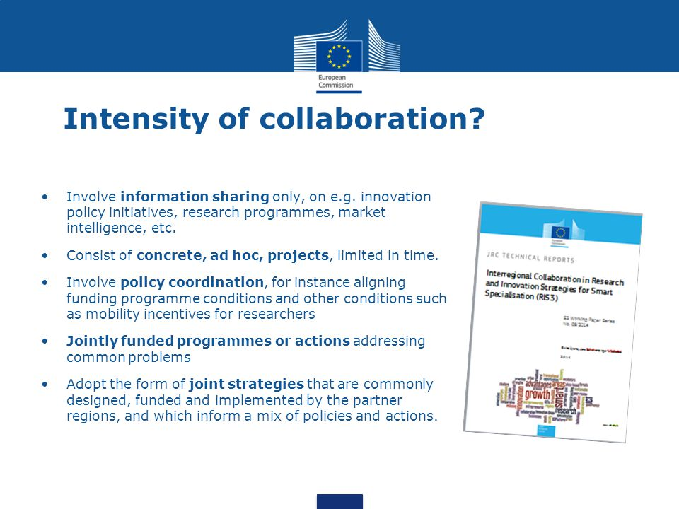 Intensity of collaboration. Involve information sharing only, on e.g.