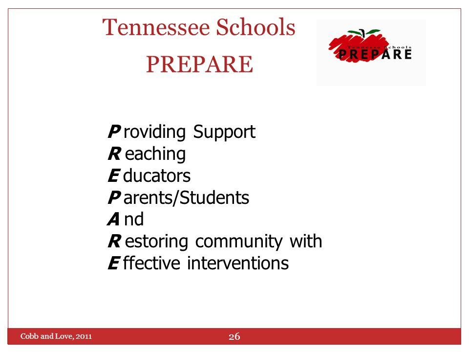 Tennessee Schools PREPARE: Helping Schools Effectively Respond After a Crisis